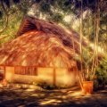 lovely island hut hdr