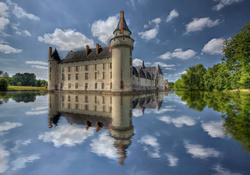 *** Castle on the water  and reflection ***