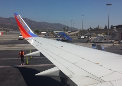 Burbank Airport From Inside Plane