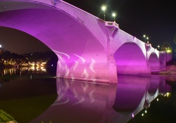Bridge in Colorful Lights