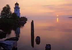 Lighthouse In The Twilight