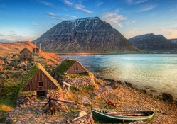 ancient fishing village in iceland hdr