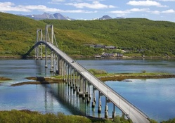 wonderful tjeldsund bridge in norway