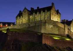 edinburgh castle scotland at night