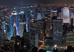 fantastic new york city panorama at night