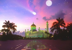 Mosque and Moonlight