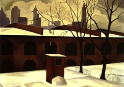 George Copeland Ault _ View From Brooklyn