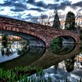 beautiful reflection bridge hdr
