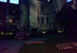 Rochester cathedral at Dusk