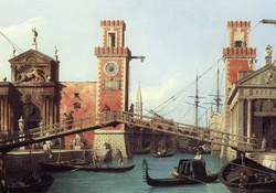 Canaletto _ View of the Entrance to the Arsenale
