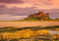 bamburgh castle in northumberland england