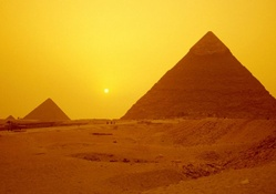 egypt pyramids at sunset