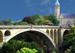 beautiful arched bridge in luxembourg