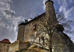 bobolice castle in niegowa poland