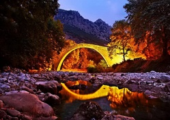 Mystical fiery bridge