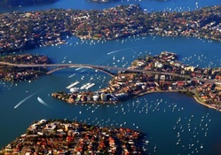 panorama of gladesville bridge in sydney