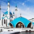 Mosque with blue Tomb