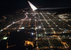 Wonderful night from the plane