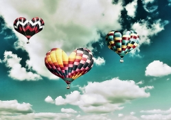 heart air balloons