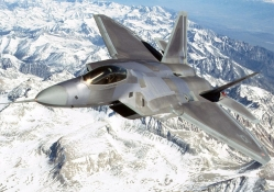 AIR F_22 Over Mountains