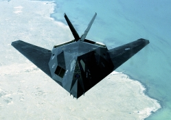 F_117 Flying Over Persian Gulf