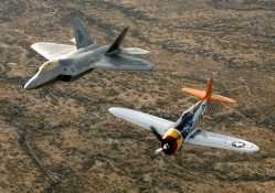 P_47 Thunderbolt and F_22 Raptor