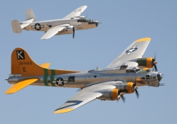 B_17G Flying Fortress and B25J Mitchell