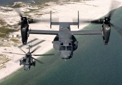 CV_22 Osprey and an MH_53 Pave Low