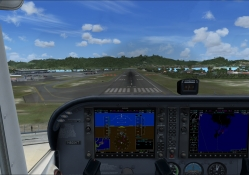 FSX landing in St. Maarten with C_172 _ G1000