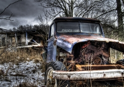 Jeep That Has Seen Better Days Hdr