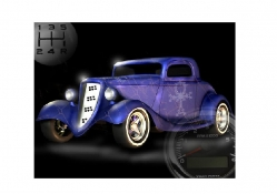 Purple Hot Rod