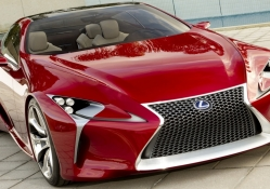 red lexus car