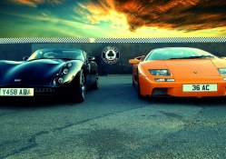 brithish tvr and italian lambroghini
