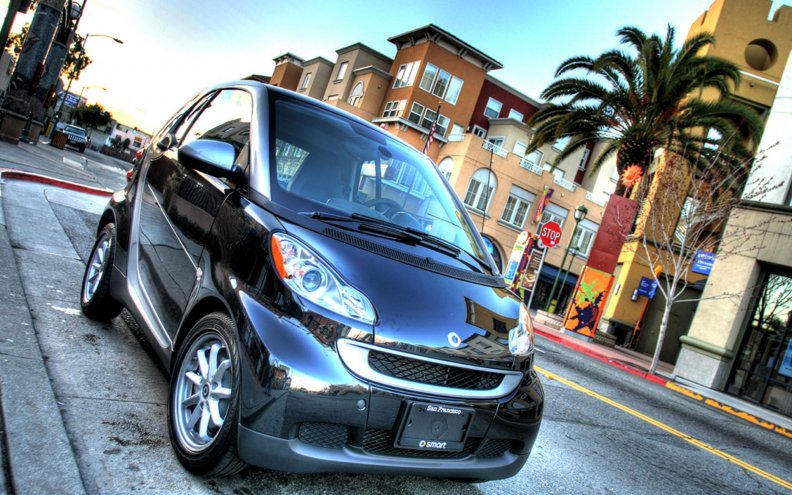 tiny smart car hdr