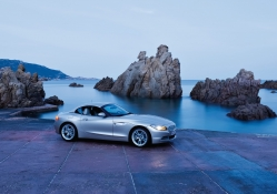 BMW sport by a fantastic coast