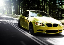 BMW coupe yellow