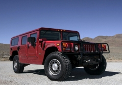 hummer jeep red