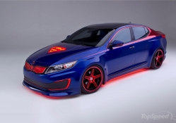 Superman Kia Optima Hybrid