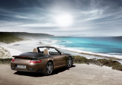 Porsche 911 Turbo Cabriolet by the Beach