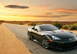 lexus lfa on desert highway