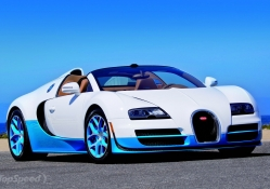 2012 Bugatti Veyron 16.4 Grand Sport Vitesse Bianco and New Light Blue