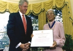 ROSA PARKS AND PRESIDENT BILL CLINTON
