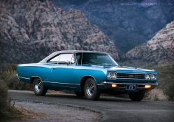 1969 plymouth GTX blue