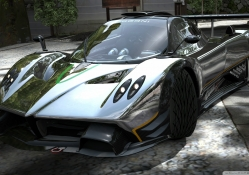 pagani zonda r in chrome