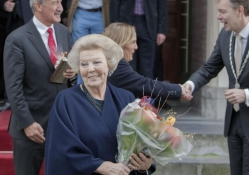 Princess Beatrix at City Hall Baarn