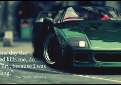 paul walker words