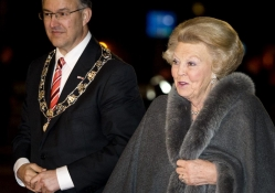 Princess Beatrix And Ahmed Aboutaleb of Rotterdam City