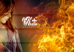 Flame Of Love _ Photoshop CC _ By KarimGFX
