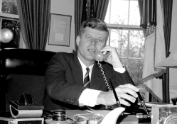 JFK in his office