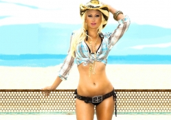 Cowgirl At The Beach